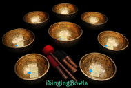 Tibetan Singing Bowl Set #56: Jhumka (8 pc.)