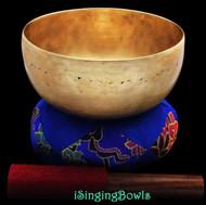 """Antique Tibetan Singing Bowl #8406 : Lotus 6 7/8"""", ca. 19th Century, C3 & F#4."""