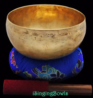 "Antique Tibetan Singing Bowl #8554 : Lotus 7 1/8"", ca. 19th Century, D#3 & A#4."