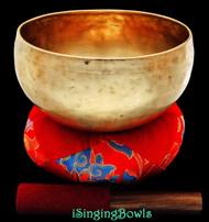 Antique Tibetan Singing Bowl #8409: Lotus