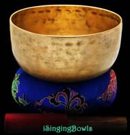 "Antique Tibetan Singing Bowl #8703 : Thado 7 3/4"", circa 17th Century, C#3 & G4"