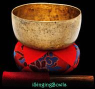 "Antique Tibetan Singing Bowl #8697 : Karma 6 3/8"", circa 18th Century, G#3 & D5."