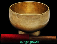 "Antique Tibetan Singing Bowl #8548 : Stem 6"", circa 19th Century, D4 & G#5."