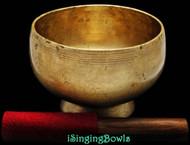 "Antique Tibetan Singing Bowl #8548 : Stem 6"", circa 19th Century, D4 & G#5."