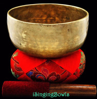"Antique Tibetan Singing Bowl #7687 : Thado 7 1/8"", circa 18th century, G#3 & D5."