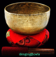 "Antique Tibetan Singing Bowl #7695 : Thado 7 1/4"", circa 18th century, G#3 & D5."