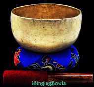 "Antique Tibetan Singing Bowl #7776 : Thado 6 5/8"", circa 17th Century, G3 & C#5."