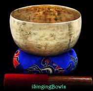 "Antique Tibetan Singing Bowl #7918 : Thado 6 5/8"", circa 18th, F3 & A#5."