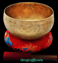 "Antique Tibetan Singing Bowl #8564 : Lotus 7 5/8"", circa 19th Century, A2 & D#4"