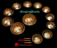 Tibetan Singing Bowl Set #37: Chromatic (12 pc.)