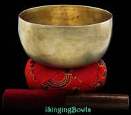 "Antique Tibetan Singing Bowl #7836 : Thado 6 3/8"", ca. 17th Century, D#3 & G#5."