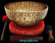 "New Tibetan Singing Bowl #8304 : Jambati 12"" Dia,  G2 & D4."