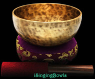 "New Tibetan Singing Bowl #8398 : Thadobati 6 3/8"", Contemporary, D4 & G#5."
