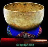"Antique Tibetan Singing Bowl #7763 : Thado 7 3/8"", ca. 18th Century, G#3 & D5."