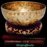 "New Tibetan Singing Bowl #8764 : Jambati 8 3/4"" Diameter, Contemporary, E3 & B4."