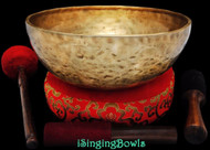 "New Tibetan Singing Bowl #8752 : Jambati 11 1/4"" Diameter,  A2 & F4."