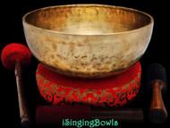 "New Tibetan Singing Bowl #8751 : Jambati 11 1/4"" Diameter, Contemporary, G2 & D4."