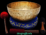 "New Tibetan Singing Bowl #8749 : Jambati 10 5/8"" Diameter, Contemporary, A2 & D#4."