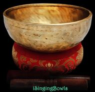 "New Tibetan Singing Bowl #8743 : Jambati  9"" Diameter, Contemporary, A3 & D#5."