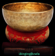 "New Tibetan Singing Bowl #8738 : Jambati 8 3/8"" Diameter, B3 & F5."