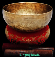 "New Tibetan Singing Bowl #8681 : Jambati  8"" Diameter Contemporary, E3 & A#4."