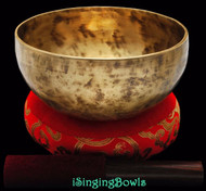 "New Tibetan Singing Bowl #8389 : Thadobati  7 1/8"", G#3 & D5."