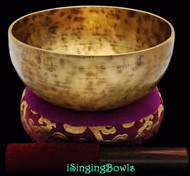 "New Tibetan Singing Bowl #8388 : Thadobati  7 5/8"", Contemporary, F#3 & C5."