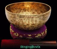 "New Tibetan Singing Bowl #8384 : Thadobati 6 7/8"", Contemporary, A3 & E5."