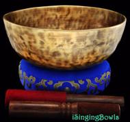 "New Tibetan Singing Bowl #8089 : Jambati  8 7/8"",C#3 & F#5."