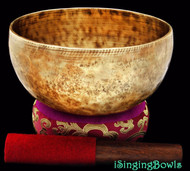 "New Tibetan Singing Bowl #7967b : Thadobati 7 3/4"", F#3 & C6."