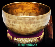 "New Tibetan Singing Bowl #8644 : Cup 5 5/8"", F4 & B5."