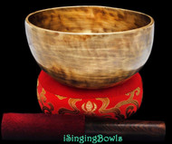 "New Tibetan Singing Bowl #8663 : Thadobati  6 5/8"", B3 & F#5."