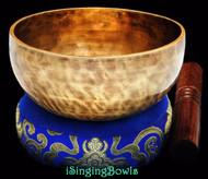 "New Tibetan Singing Bowl #8675 : Cup 5 7/8"",  D4 & A5."