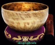 "New Tibetan Singing Bowl #8676 : Cup 5 1/2"",  F4 & B5."