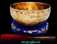 "New Tibetan Singing Bowl #8691: Thadobati  6 1/4"",  B3 & F5."