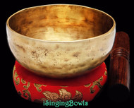 "New Tibetan Singing Bowl #8722: Cup 5"",  G4 & C6."