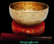 "New Tibetan Singing Bowl: Thadobati 7 7/8"", Contemporary, F3 & B4."