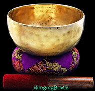 "Antique Tibetan Singing Bowl #7712: Thado 7"", ca. 18th C, G#3 & D5."