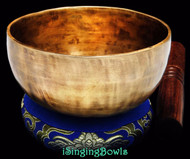 "New Tibetan Singing Bowl #8664 : Cup 5 1/2"",  F4 & B5."