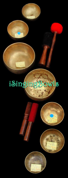 Antique Tibetan singing bowl set #51