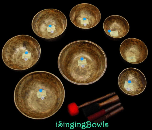 Tibetan Singing Bowl Set #73: Master-Healing Diatonic (8 pc.)