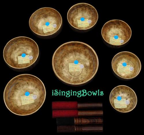Tibetan Singing Bowl Set #76: Master-Healing Diatonic (8 pc.)