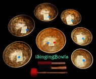 Antique Tibetan Singing Bowl: Set #63 (10 pc.)