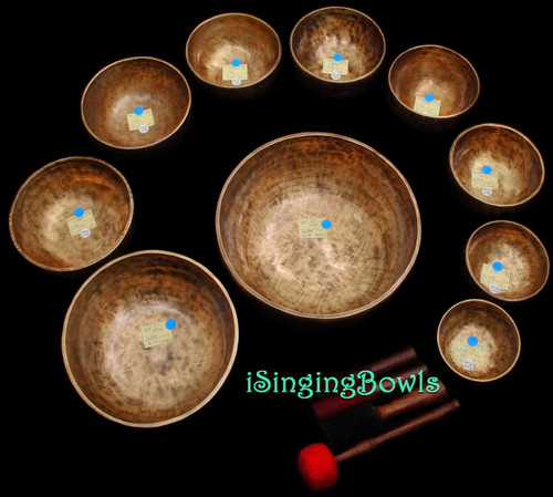Singing Bowl Set #65b: Alexandre Tannous Method (10 pc.)