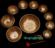 Singing Bowl Set #64b: Alexandre Tannous Method (10 pc.)