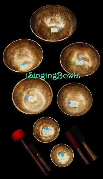 Cycle of Fifths Singing Bowl Set based upon 432 Hertz tuning.