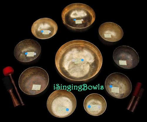 Singing Bowl Set #63b: Alexandre Tannous Method (10 pc.)