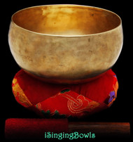 Antique Tibetan Lotus-style singing bowl #8799