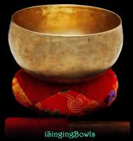 Antique Tibetan Lotus-style singing bowl #8799