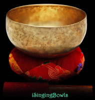 Antique Tibetan Lotus-style singing bowl #8814
